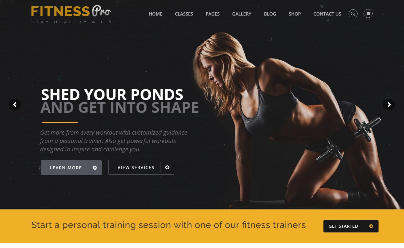 Fitness Pro - Best Premium Fitness WordPress Theme