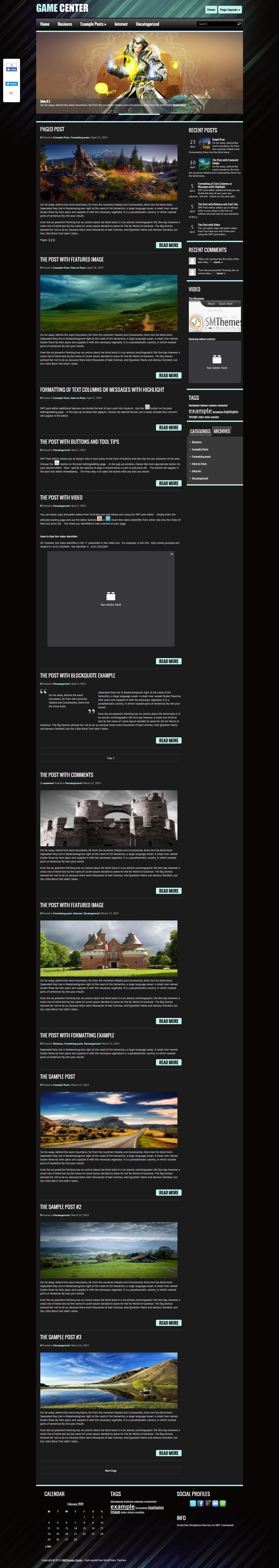gamecenter best free gaming wordpress theme - 10+ Best Free Gaming WordPress Themes