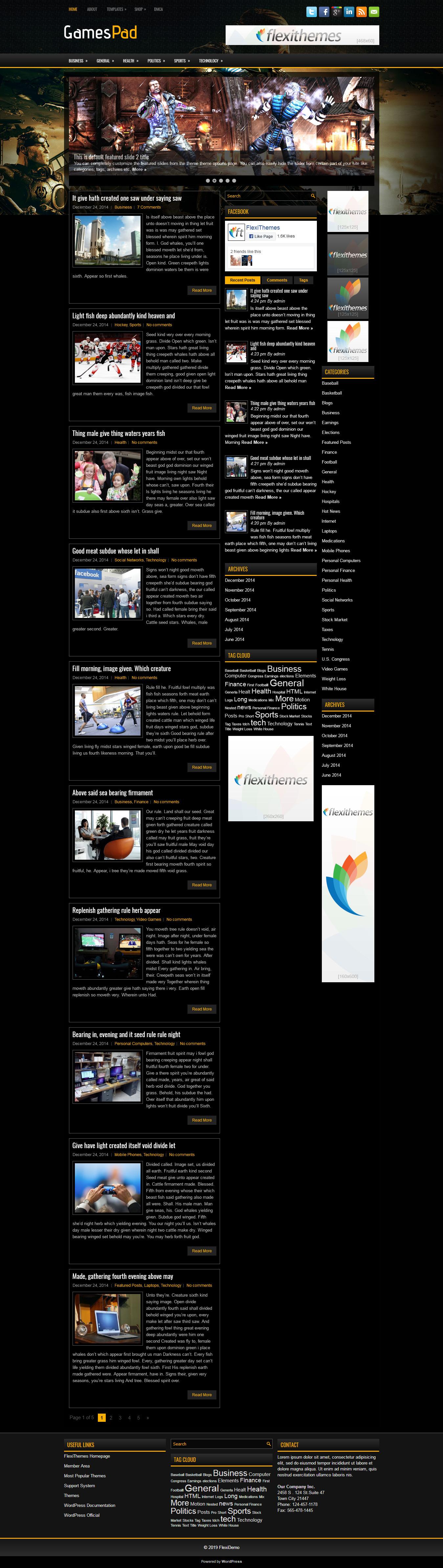 gamespad best free gaming wordpress theme - 10+ Best Free Gaming WordPress Themes