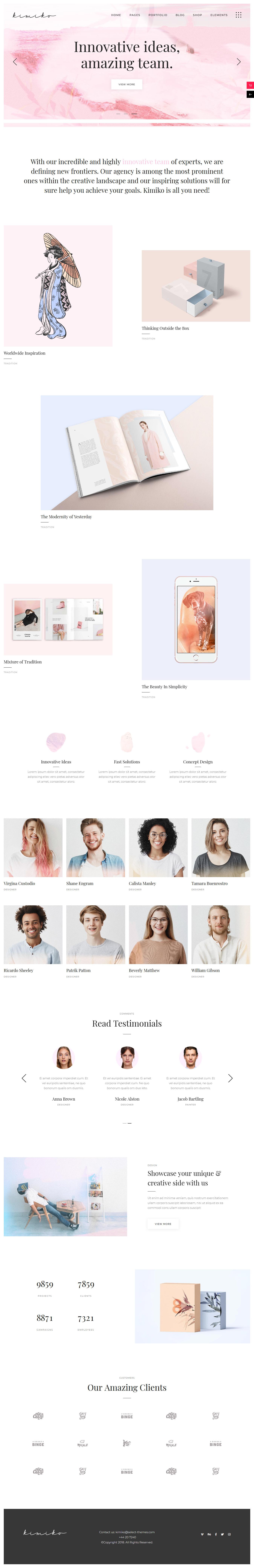kimiko best premium feminine wordpress theme - 10+ Best Feminine WordPress Themes (Premium Version)