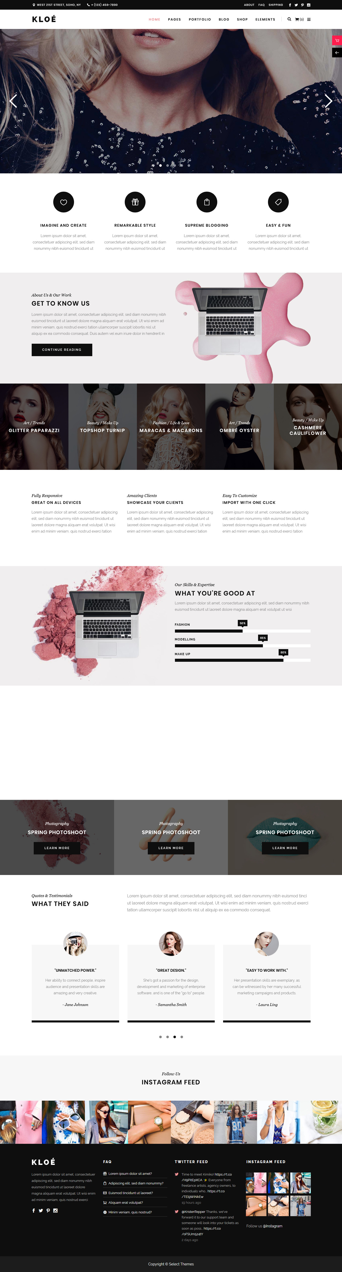 kloe best premium feminine wordpress theme - 10+ Best Feminine WordPress Themes (Premium Version)