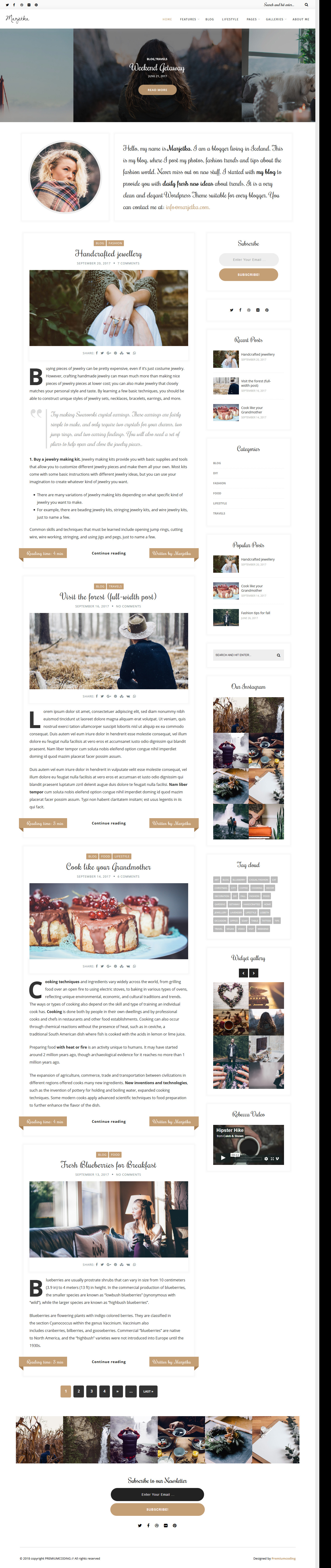 marjetka best premium feminine wordpress theme 1 - 10+ Best Feminine WordPress Themes (Premium Version)