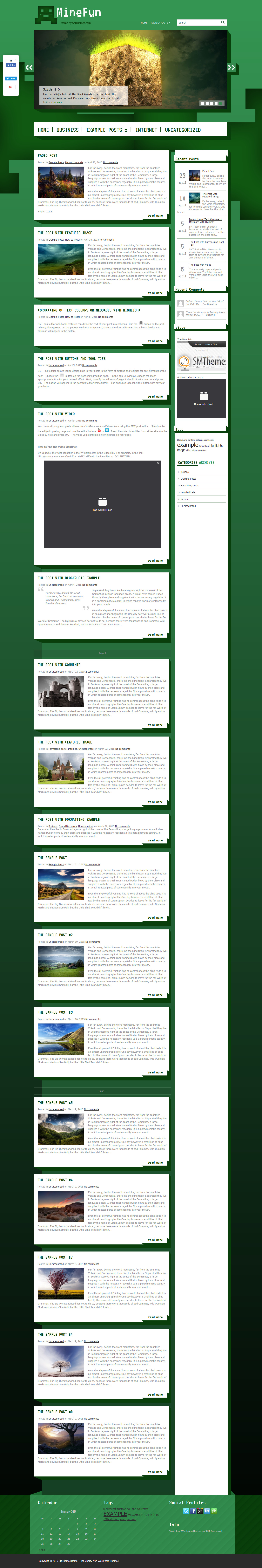 minefun best free gaming wordpress theme - 10+ Best Free Gaming WordPress Themes