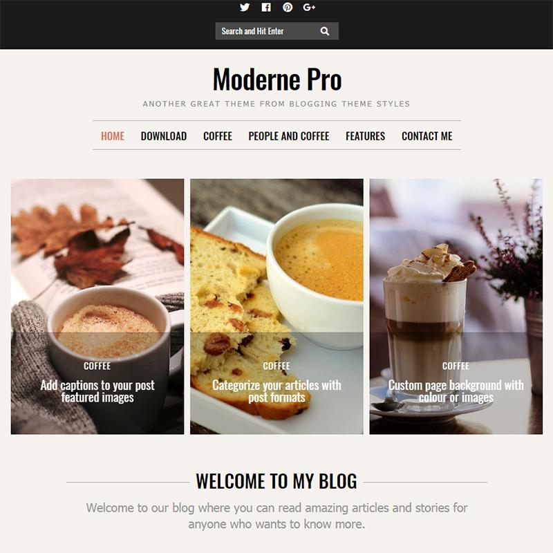 Moderne Pro - WordPress feminine blog theme