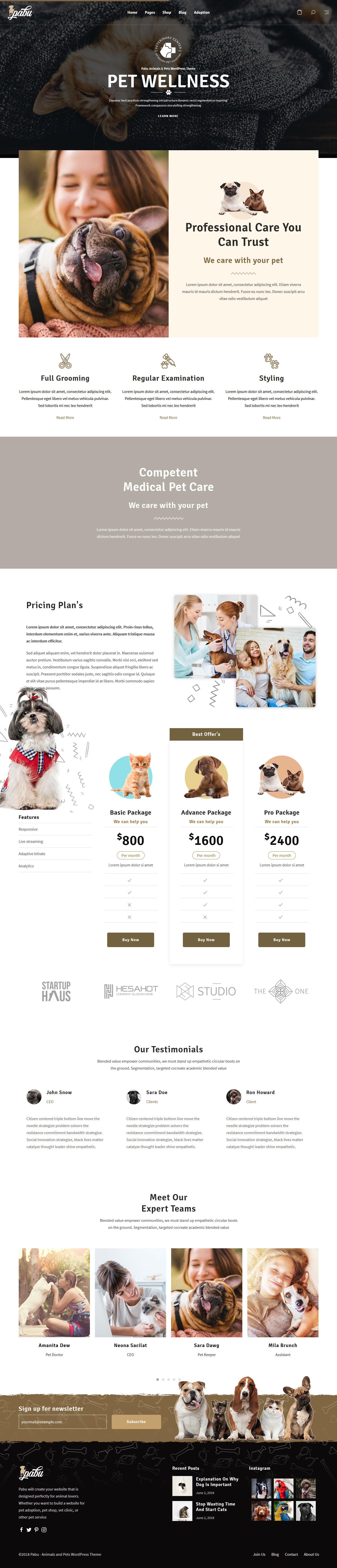 pabu best premium animal and pet wordpress theme - 10+ Best Premium Animal and Pet WordPress Themes