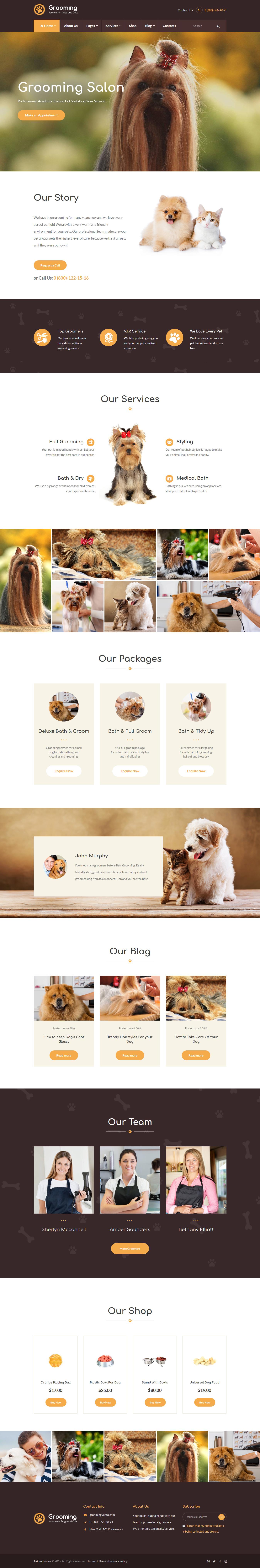pet grooming best premium animal and pet wordpress theme - 10+ Best Premium Animal and Pet WordPress Themes