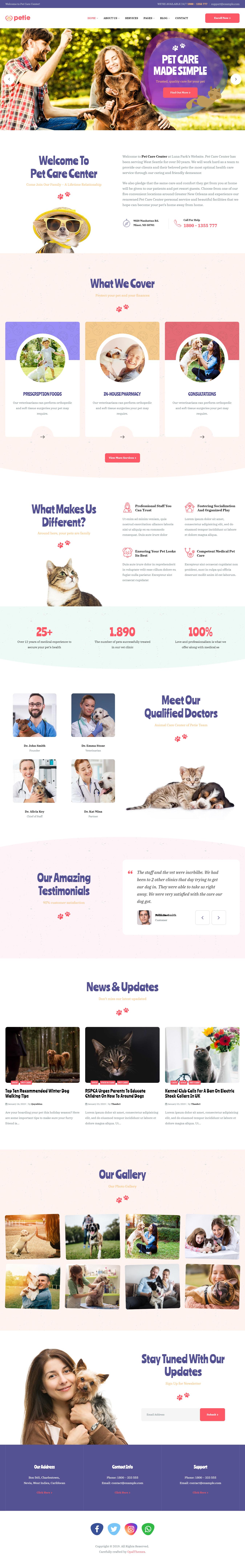 Petie - Best Premium Animal and Pet WordPress Theme