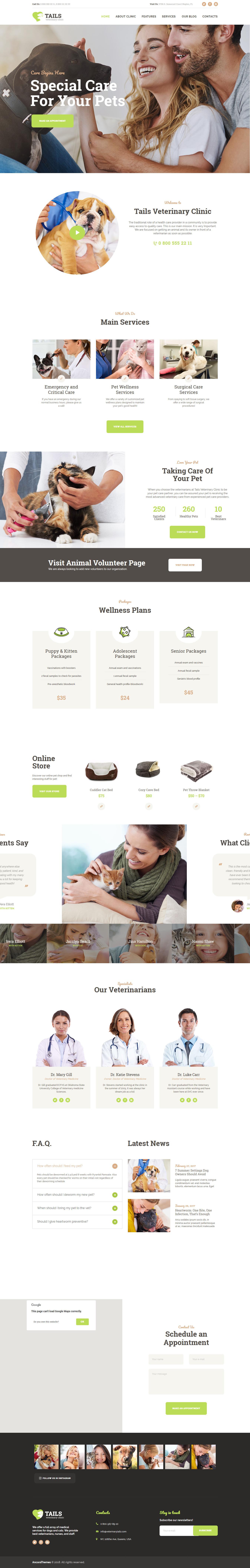 tails best premium animal and pet wordpress theme - 10+ Best Premium Animal and Pet WordPress Themes