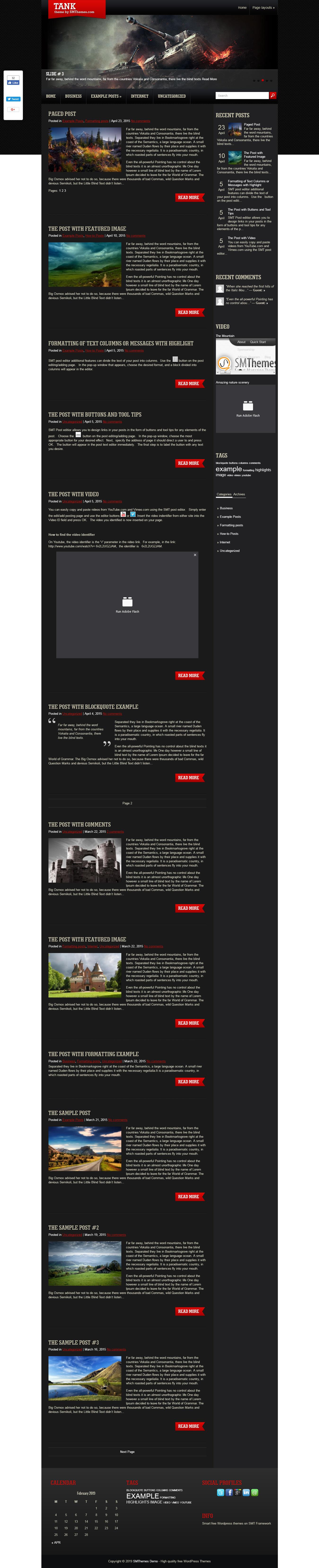 tank best free gaming wordpress theme - 10+ Best Free Gaming WordPress Themes