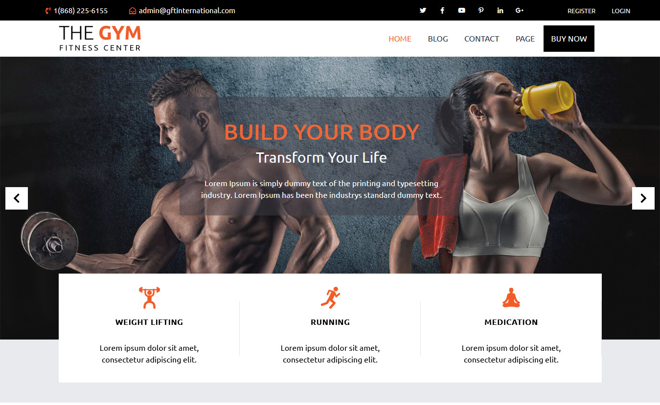 Advance Fitness Gym- Free Fitness WordPress Theme