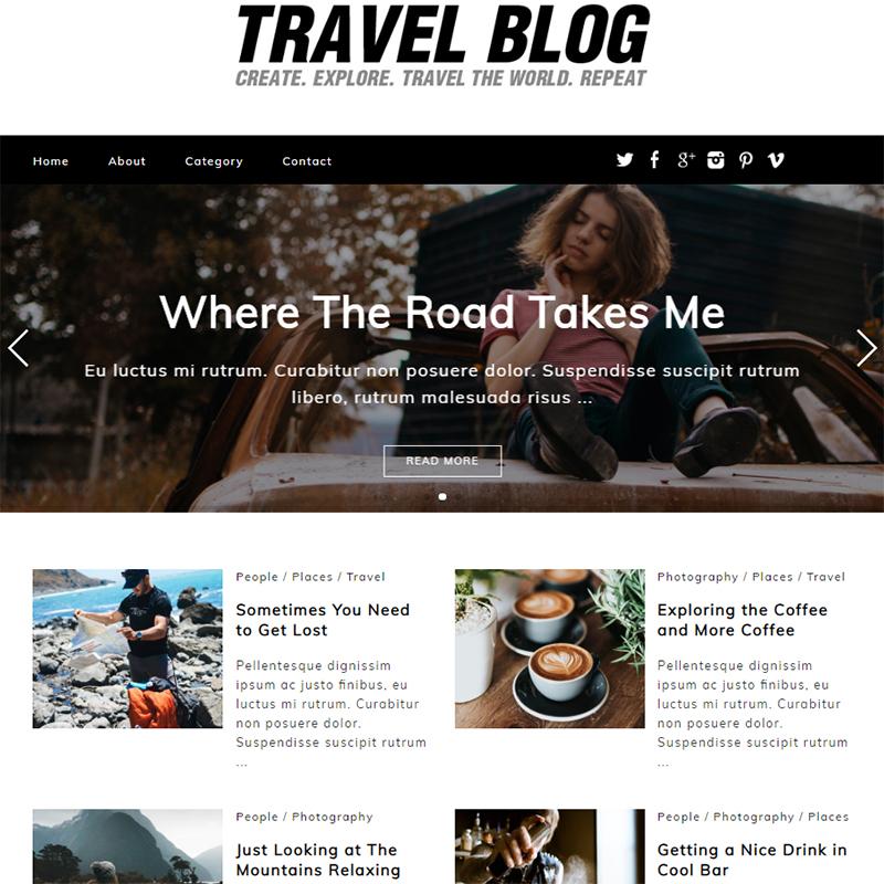 Travel Blog - WordPress feminine blog theme