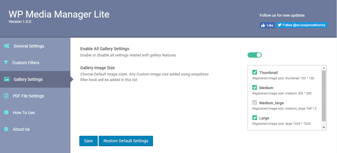 wp media manager gallery settings - How to Manage Media Files using WP Media Manager Lite? (Step by Step Guide)
