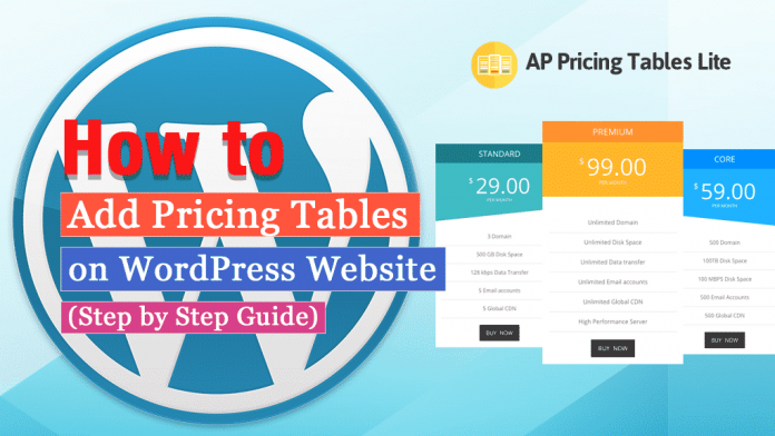 How to Add Pricing Tables on WordPress Website? (Step by Step Guide)