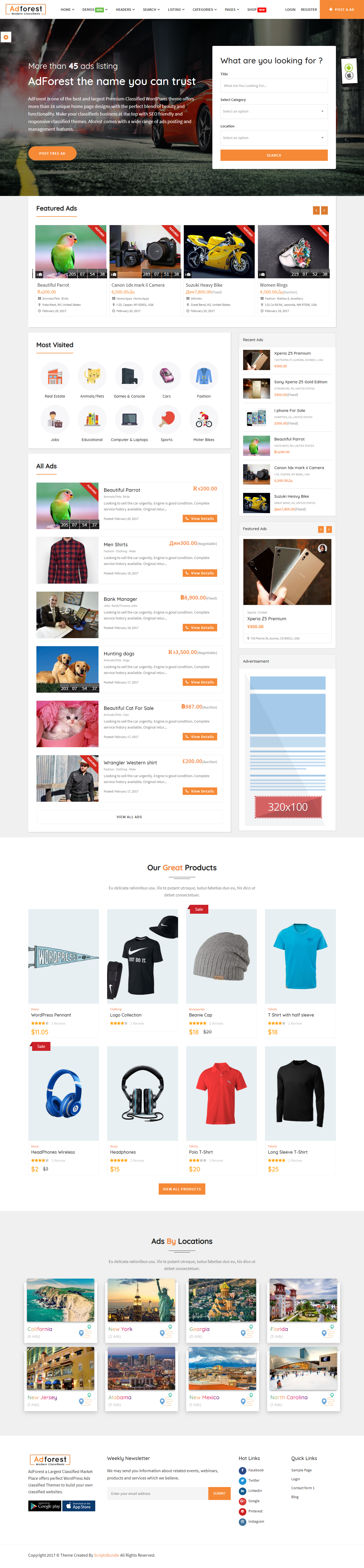 adforest best premium classified wordpress theme - 10+ Best Premium Classified WordPress Themes