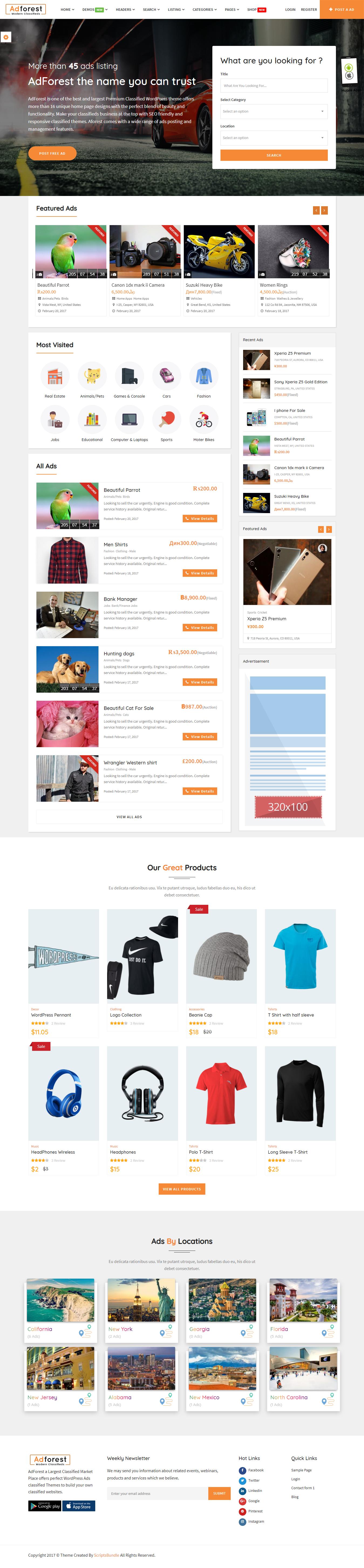 adforest best premium classified wordpress theme - 10+ Best Premium Classified WordPress Themes