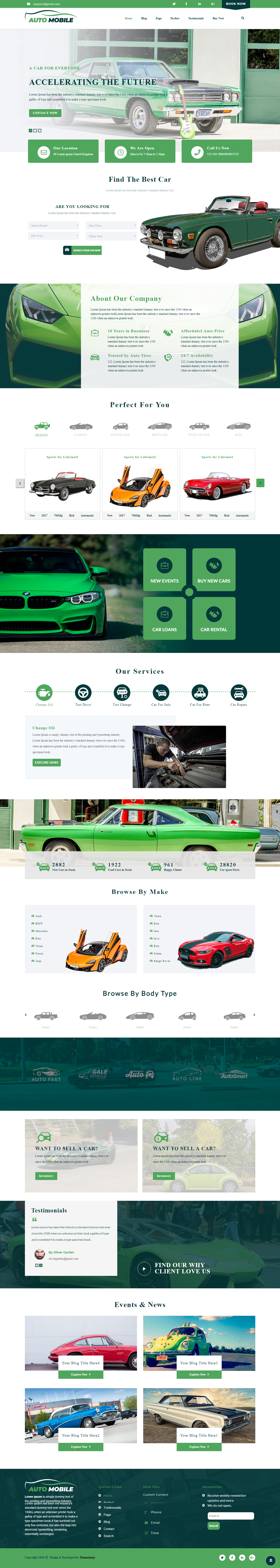 advance automobile best free automobile wordpress theme - 10+ Best Free Automobile WordPress Themes