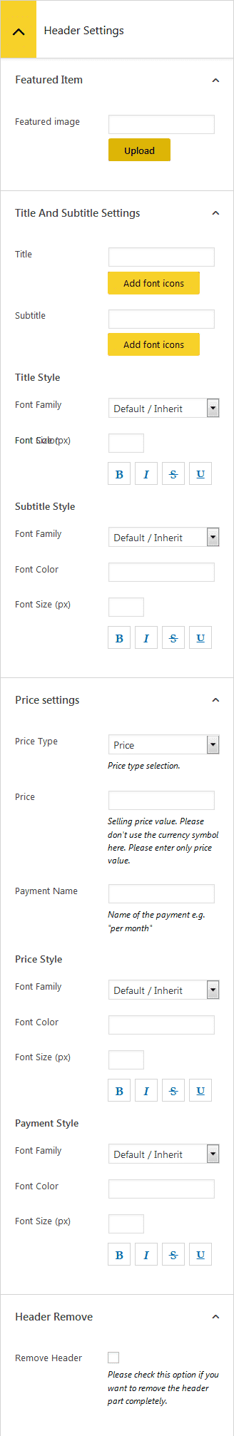 ap pricing tables lite column header settings - How to Add Pricing Tables on WordPress Website? (Step by Step Guide)