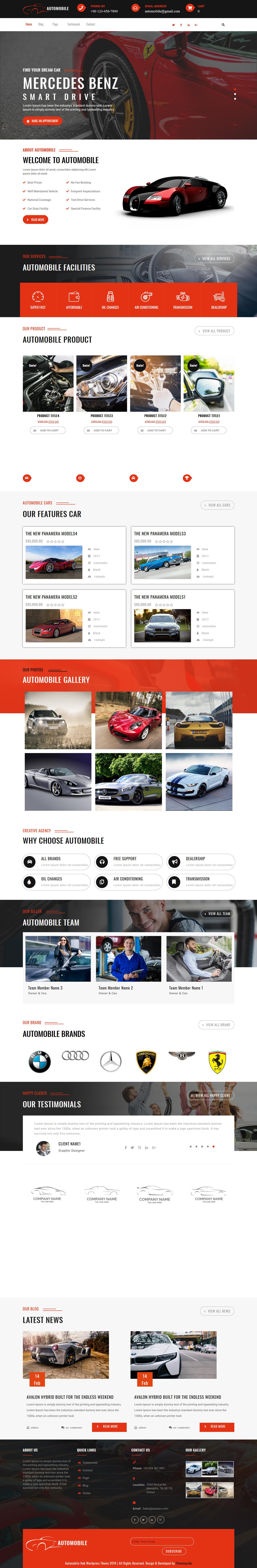 automobile hub best free automobile wordpress theme - 10+ Best Free Automobile WordPress Themes