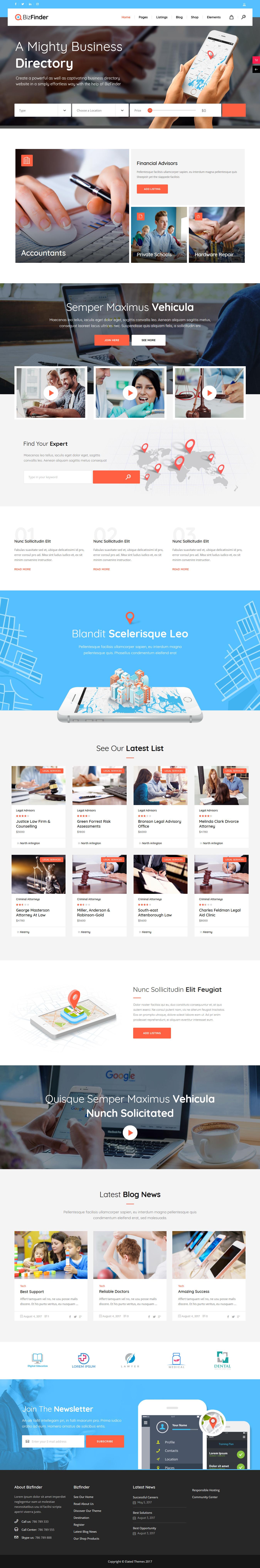 bizfinder best premium classified wordpress theme - 10+ Best Premium Classified WordPress Themes