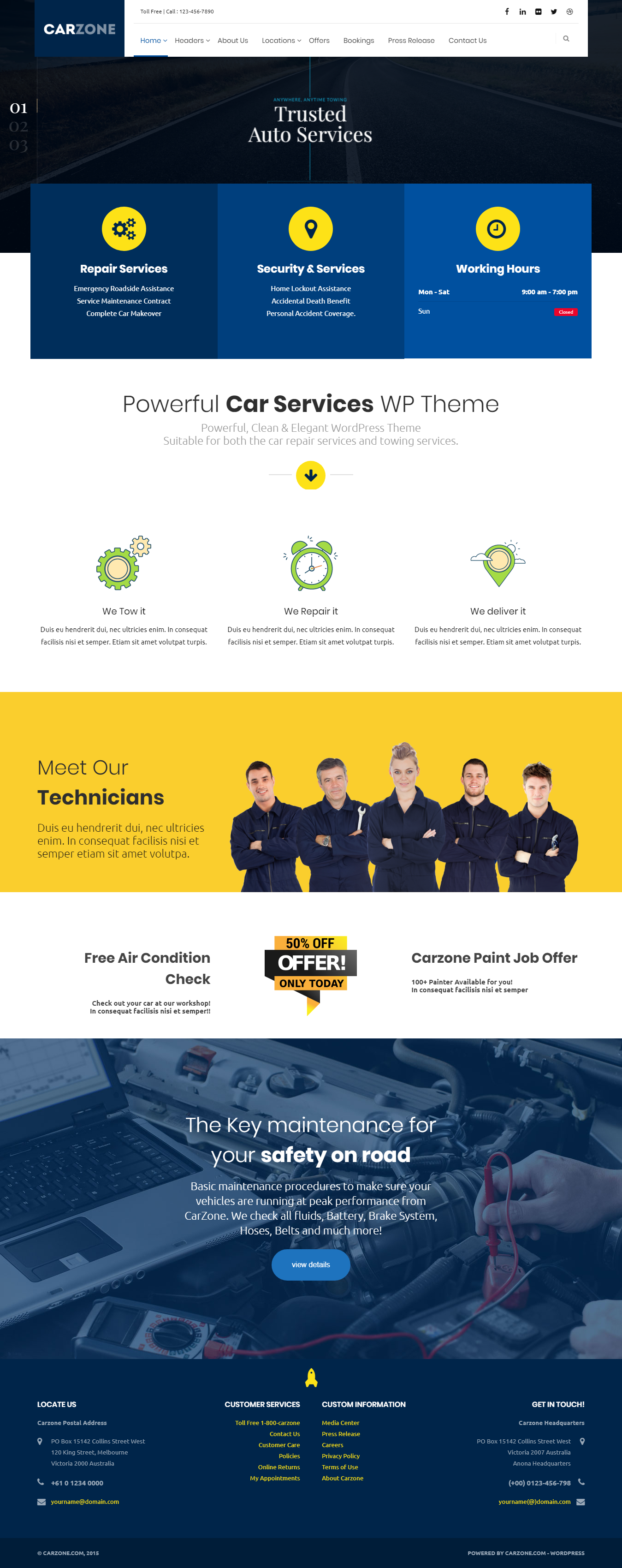 carzone best premium automobile wordpress theme - 10+ Best Premium Automobile WordPress Themes