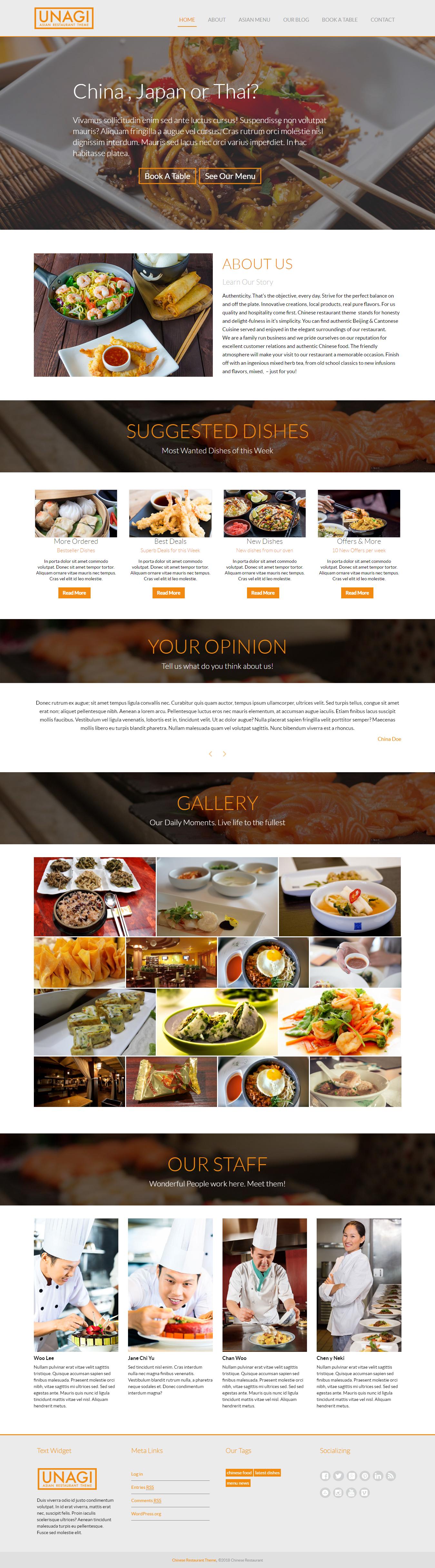 chinese restaurant lite best free bar pub wordpress theme - 10+ Best Free Bar and Pub WordPress Themes
