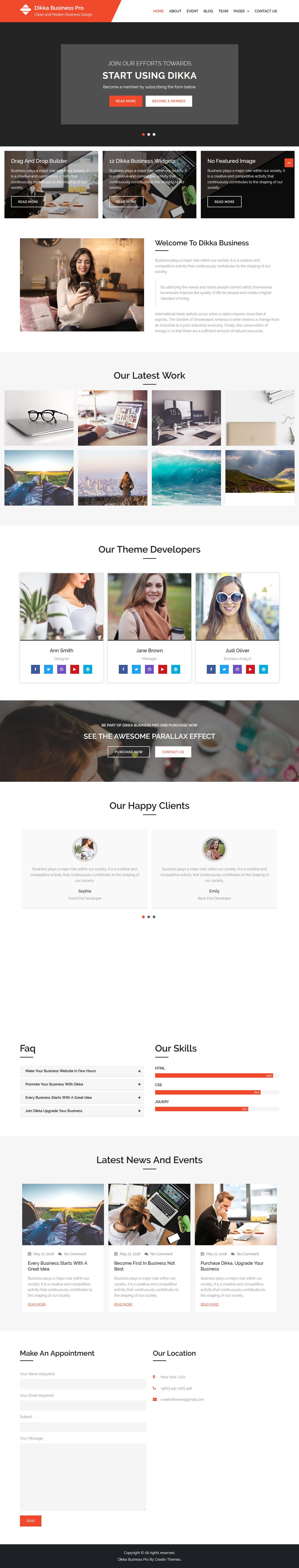 dikka business best free accounting wordpress theme - 10+ Best Free Accounting WordPress Themes