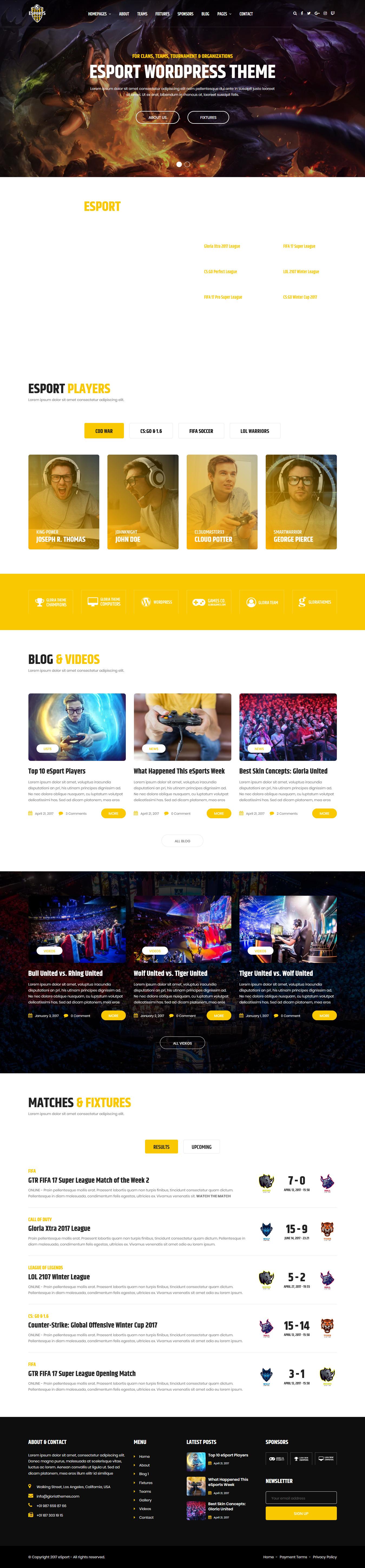 esport best premium gaming wordpress theme - 10+ Best Premium Gaming WordPress Themes