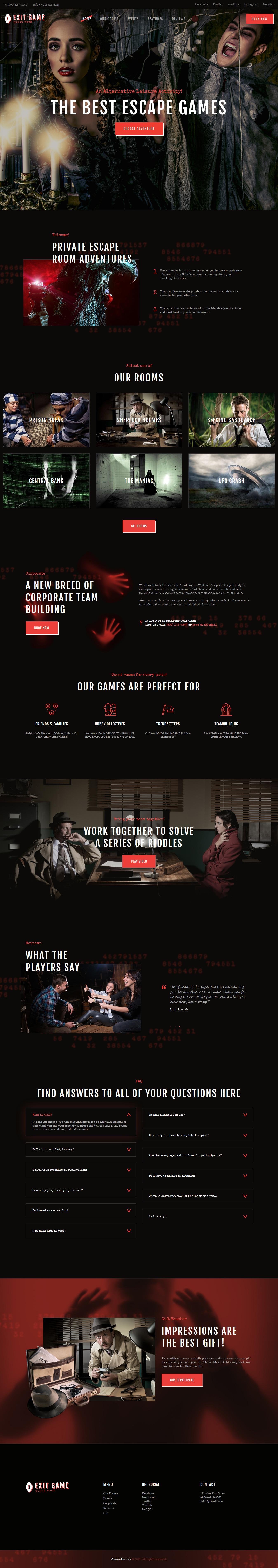 exit game best premium gaming wordpress theme - 10+ Best Premium Gaming WordPress Themes
