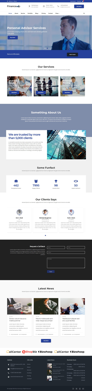 financeup best free accounting wordpress theme - 10+ Best Free Accounting WordPress Themes