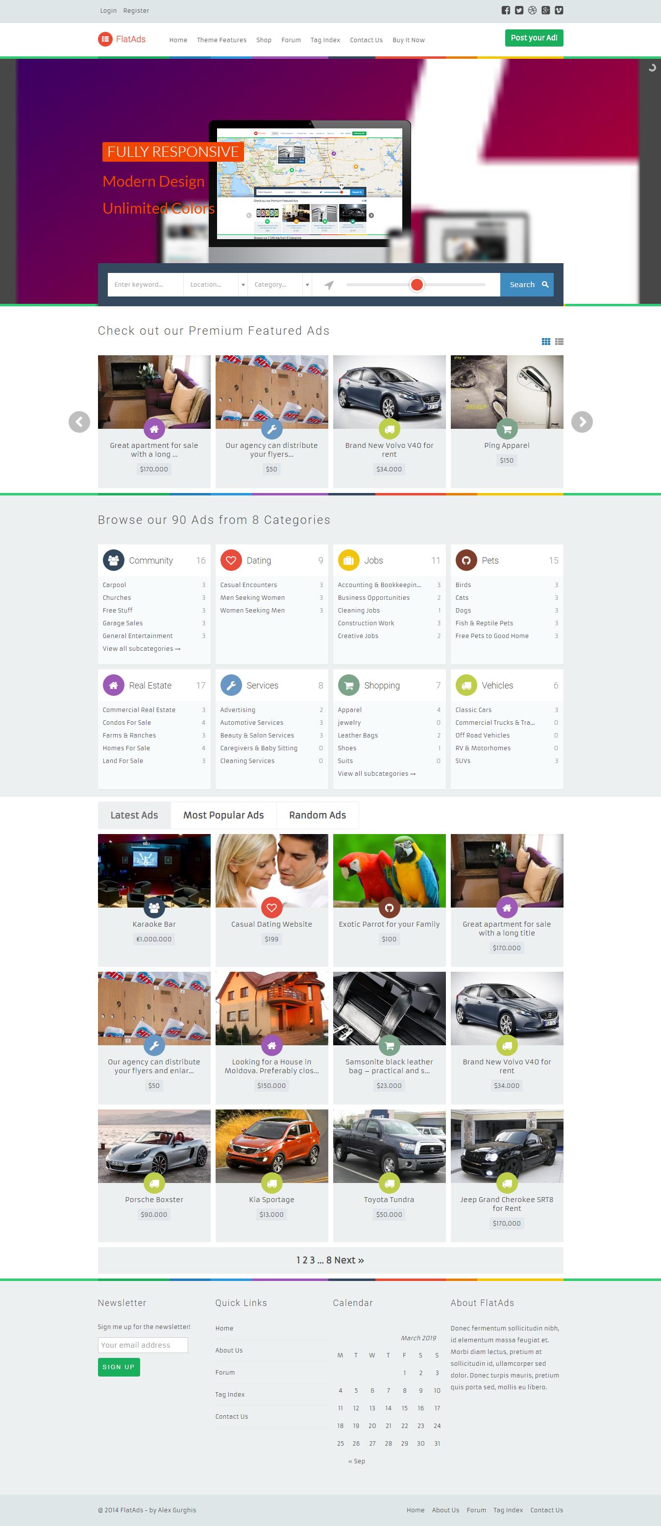 flatads best premium classified wordpress theme - 10+ Best Premium Classified WordPress Themes