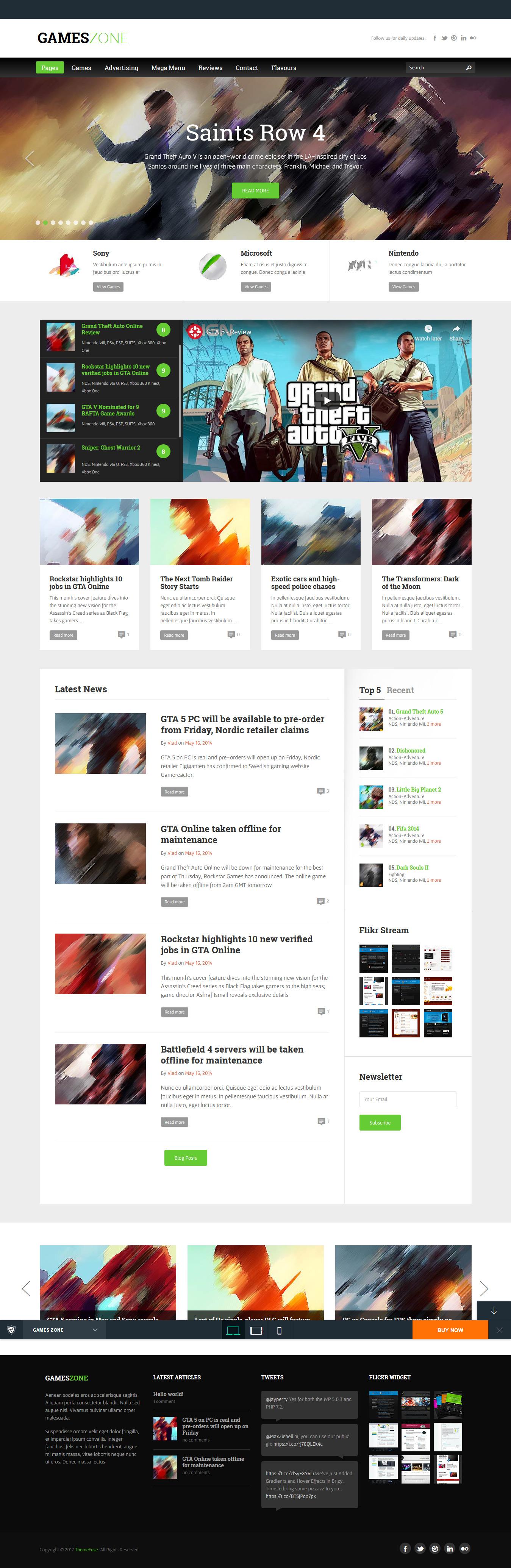 games zone best premium gaming wordpress theme - 10+ Best Premium Gaming WordPress Themes