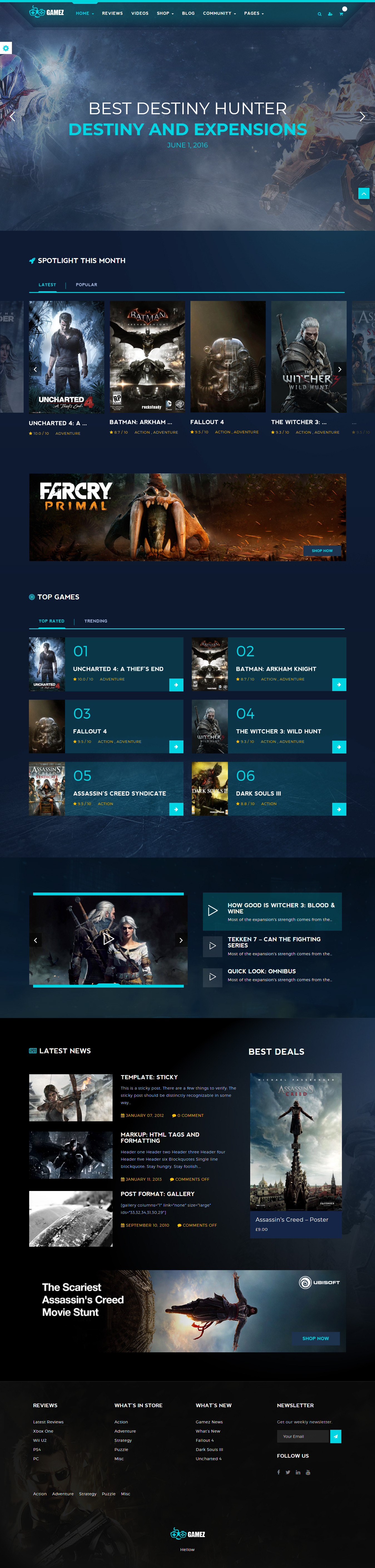 gamez best premium gaming wordpress theme - 10+ Best Premium Gaming WordPress Themes