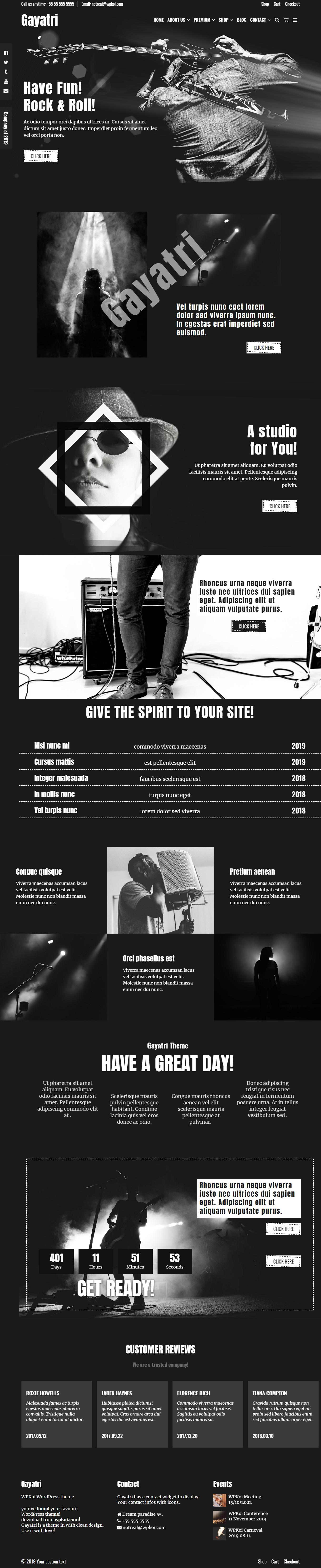 Gayatri - Best Free Video and Music WordPress Theme