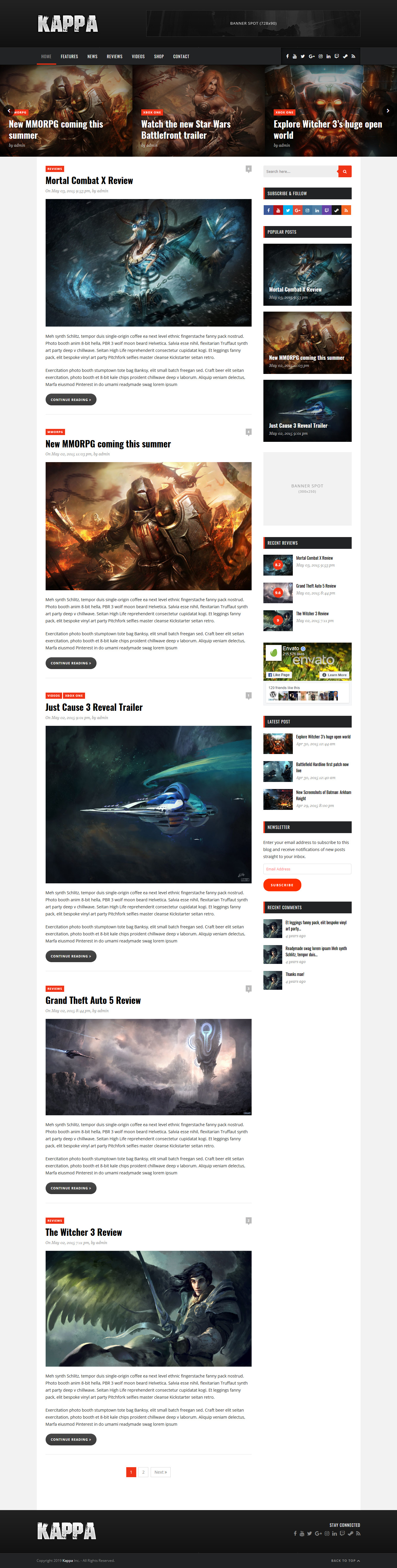 kappa best premium gaming wordpress theme - 10+ Best Premium Gaming WordPress Themes