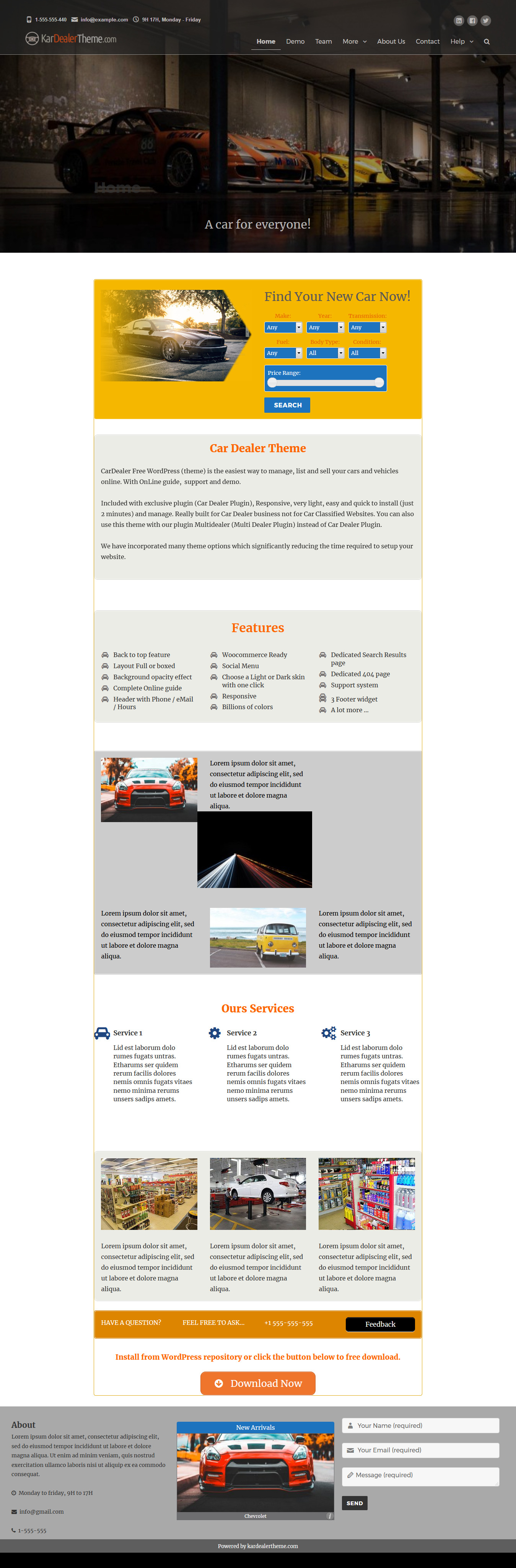 kardealer best free automobile wordpress theme - 10+ Best Free Automobile WordPress Themes