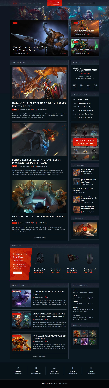 ludos paradise best premium gaming wordpress theme - 10+ Best Premium Gaming WordPress Themes