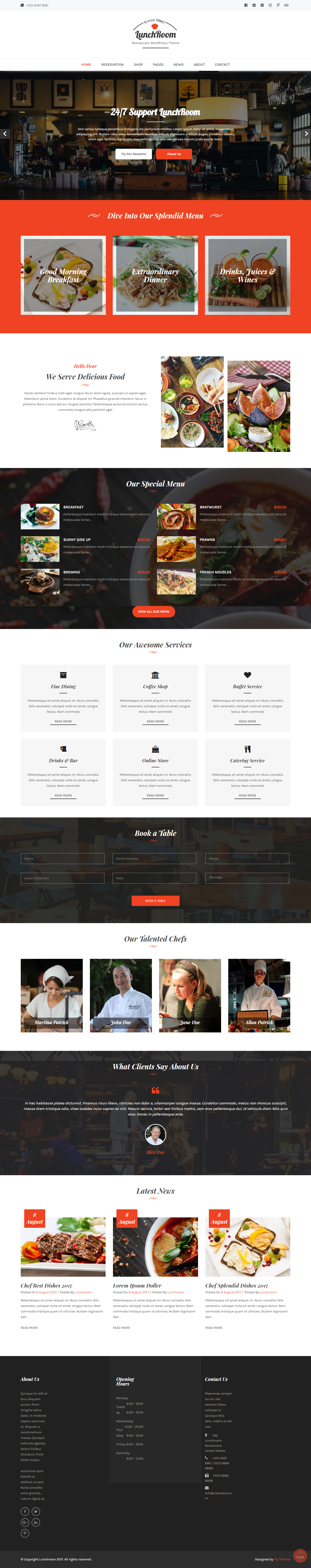 lunchroom best free bar pub wordpress theme - 10+ Best Free Bar and Pub WordPress Themes