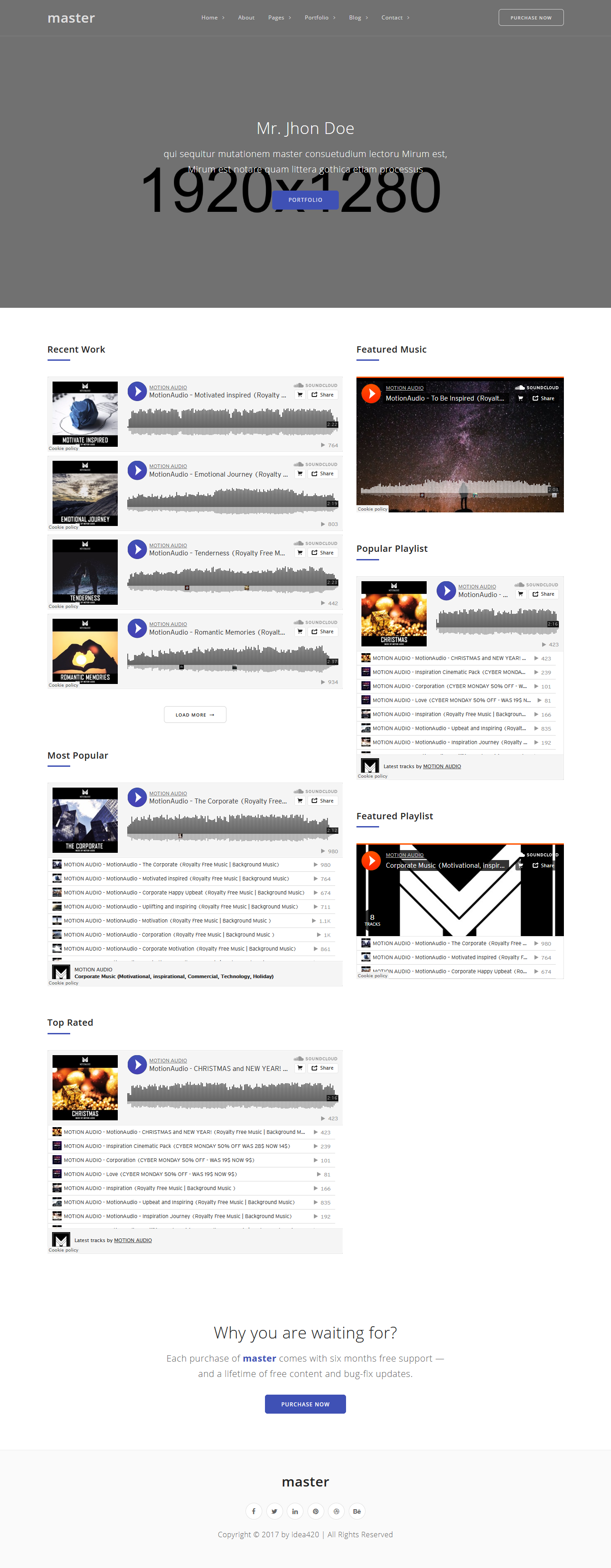 Master - Best Premium Video and Music WordPress Theme