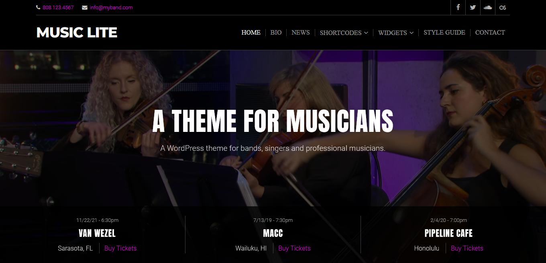 music lite best free video and music wordpress theme - 10+ Best Free Video and Music WordPress Themes
