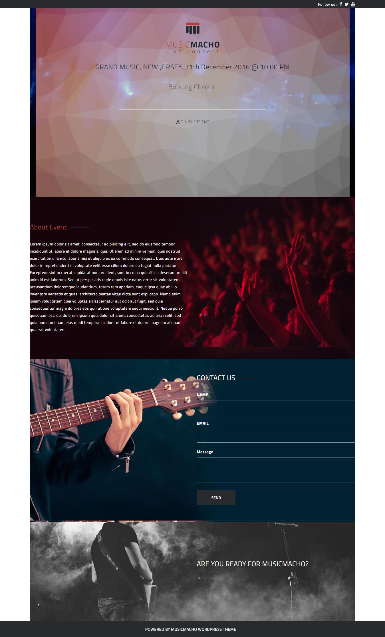 musicmacho best free video and music wordpress theme - 10+ Best Free Video and Music WordPress Themes
