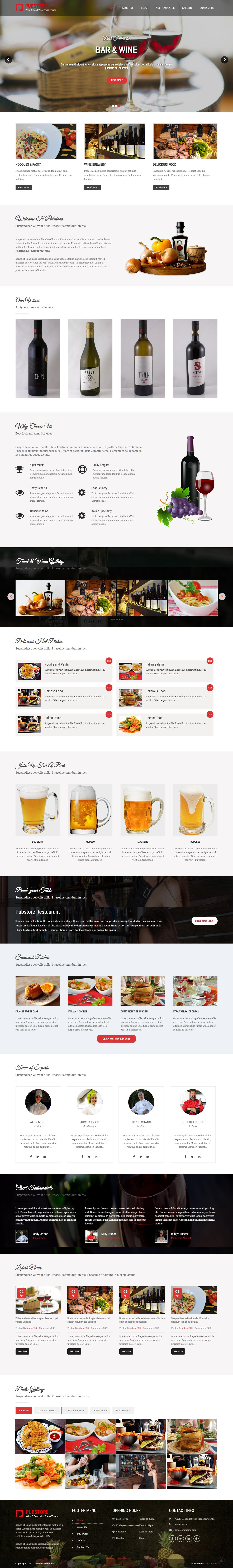 pubstore best free bar pub wordpress theme - 10+ Best Free Bar and Pub WordPress Themes