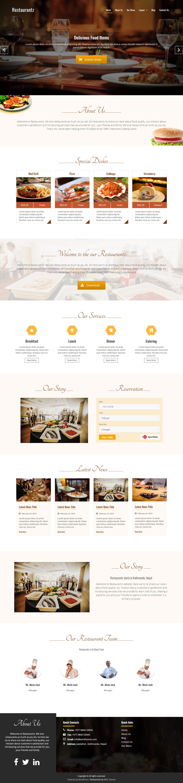 restaurantz best free bar pub wordpress theme - 10+ Best Free Bar and Pub WordPress Themes