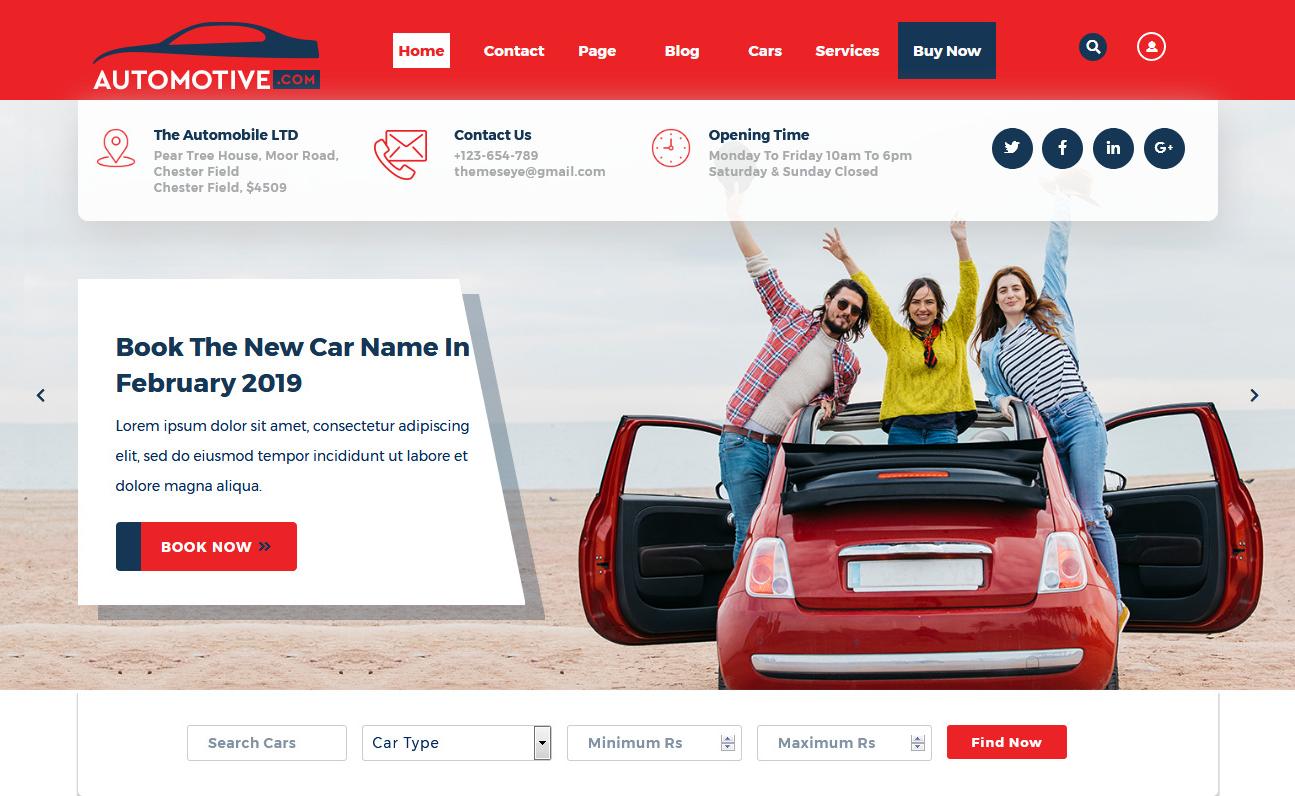 10+ Best Free Automobile WordPress Themes