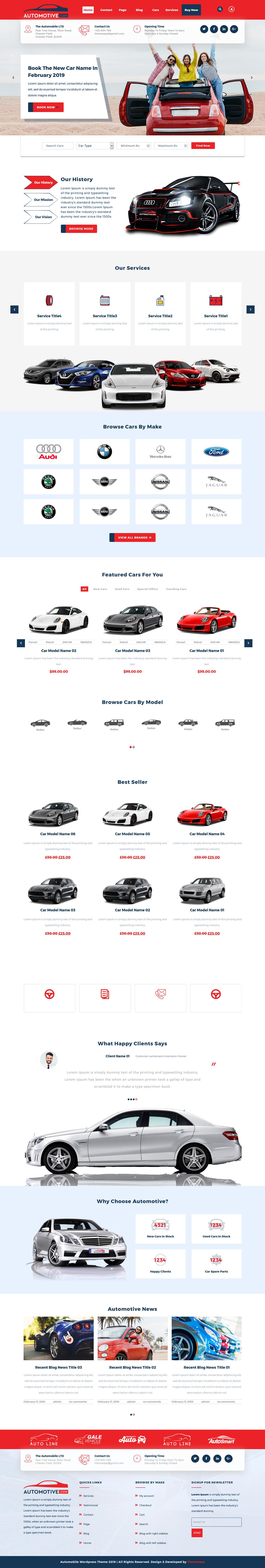 sayara automotive best free automobile wordpress theme - 10+ Best Free Automobile WordPress Themes