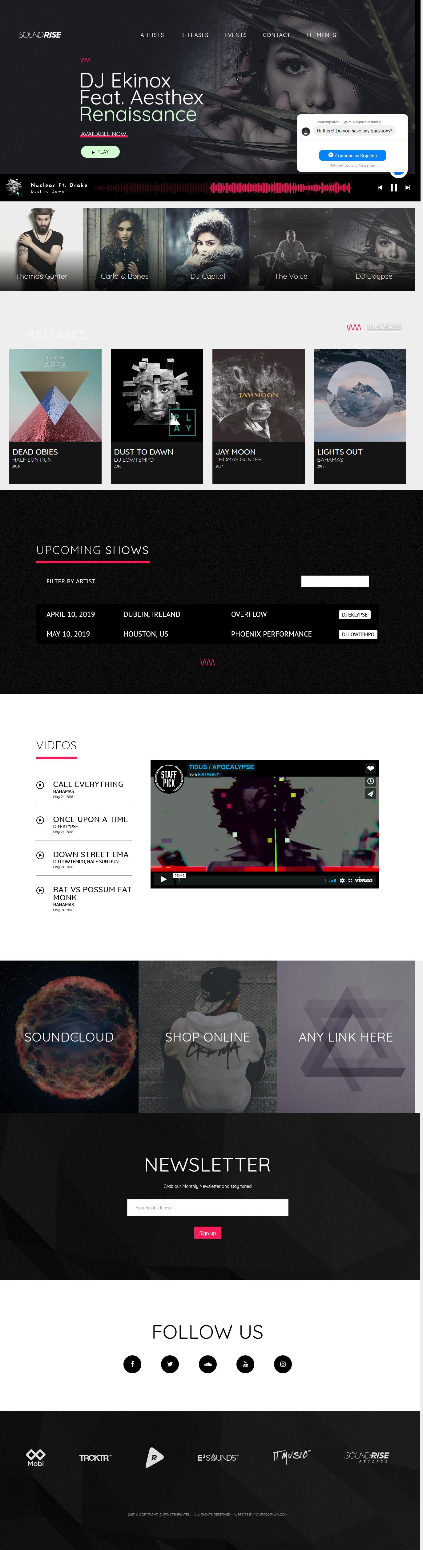 soundrise best premium video music wordpress theme - 10+ Best Video and Music WordPress Themes (Premium Version)