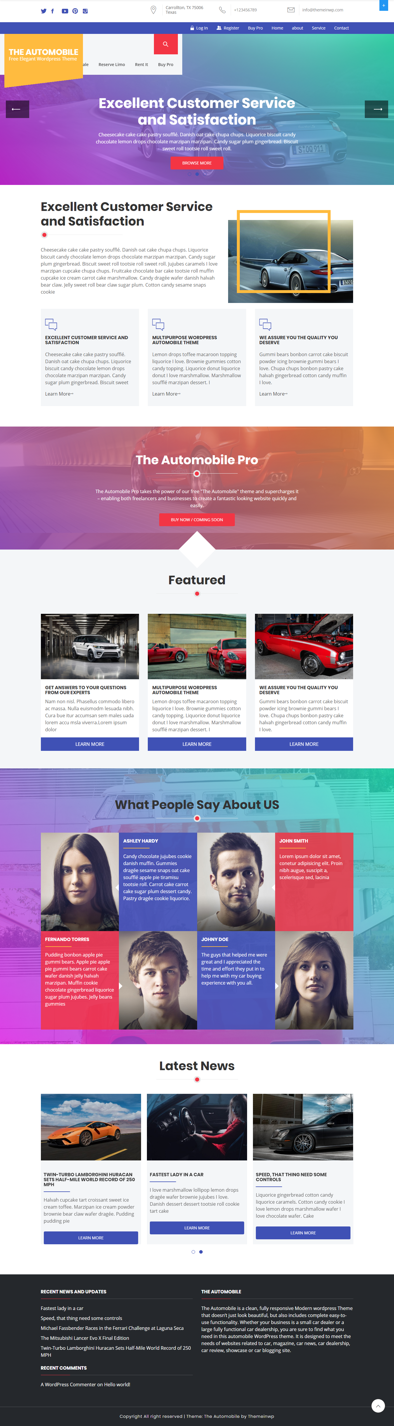 the automobile best free automobile wordpress theme - 10+ Best Free Automobile WordPress Themes
