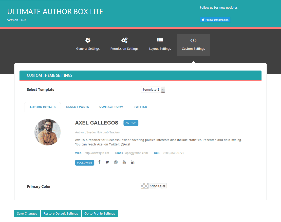 ultimate author box lite custom settings - How to Add Author Bio Box on WordPress Blogs? (Step by Step Guide)
