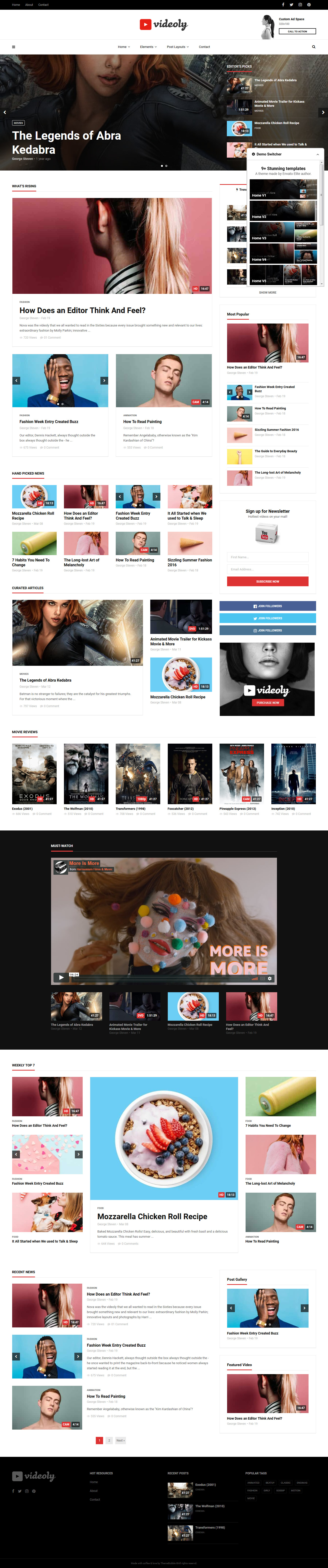 videloy best premium video music wordpress theme - 10+ Best Video and Music WordPress Themes (Premium Version)