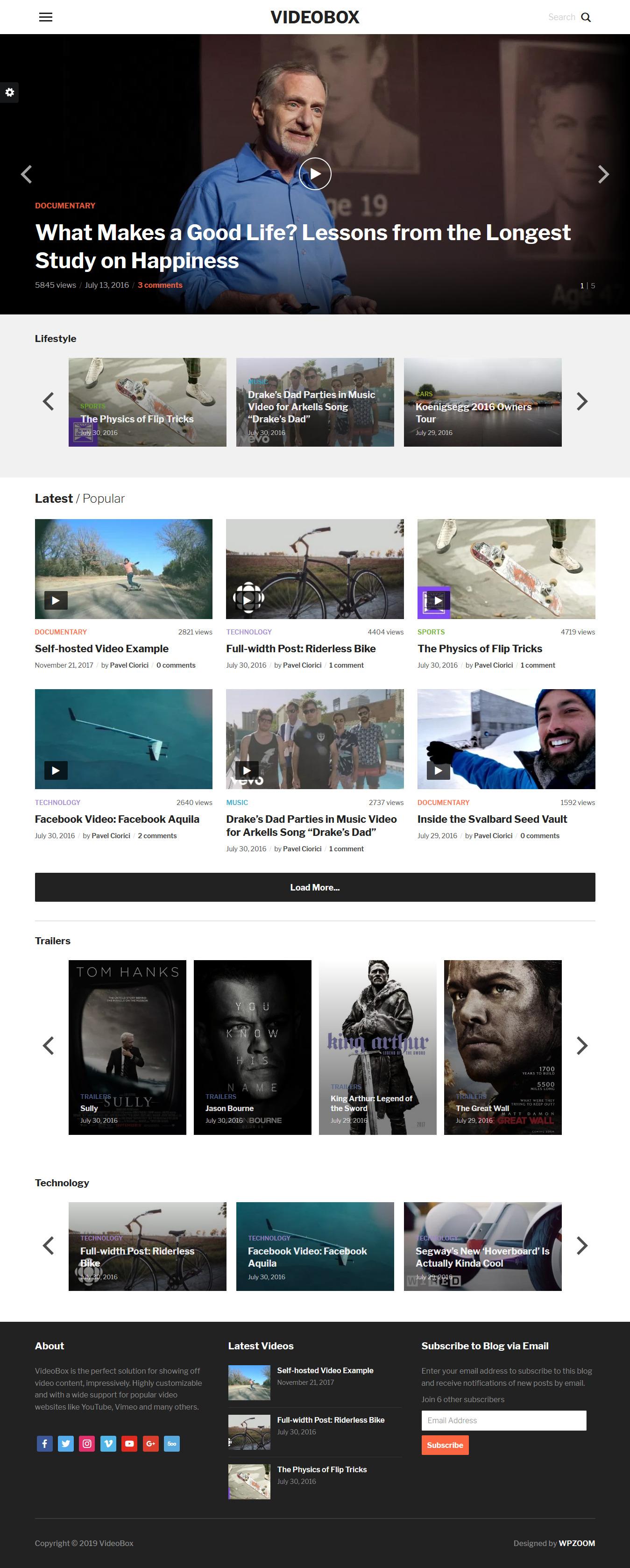 videobox best premium video music wordpress theme - 10+ Best Video and Music WordPress Themes (Premium Version)