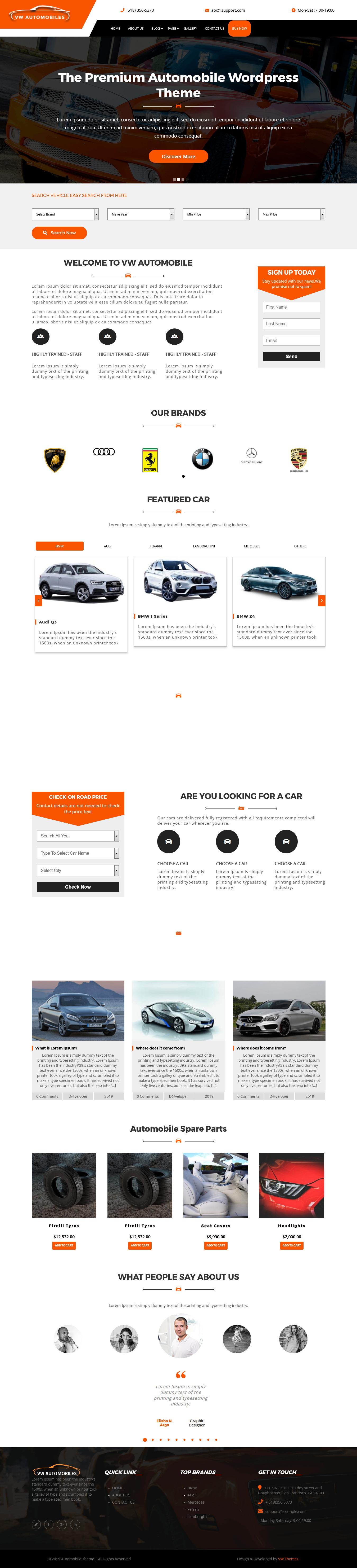 vw automobile best free automobile wordpress theme - 10+ Best Free Automobile WordPress Themes